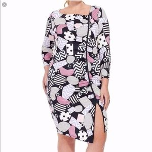 Isabel + Alice Collage Printed Asymmetric